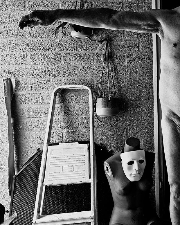 self figure study photo print by photographer jan karel kok