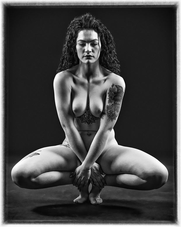 shapes artistic nude photo print by photographer ken greenhorn