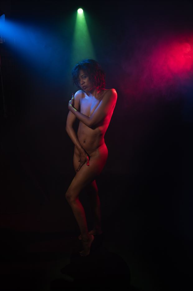 she dreams of being on stage naked sensual photo print by photographer intimate images