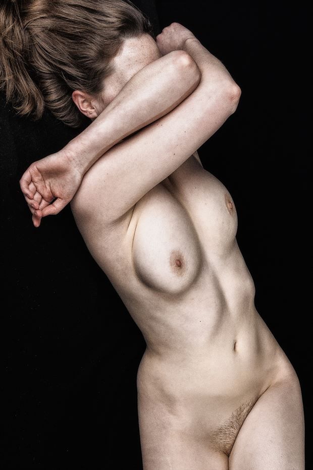 shy ms artistic nude photo print by photographer rick jolson