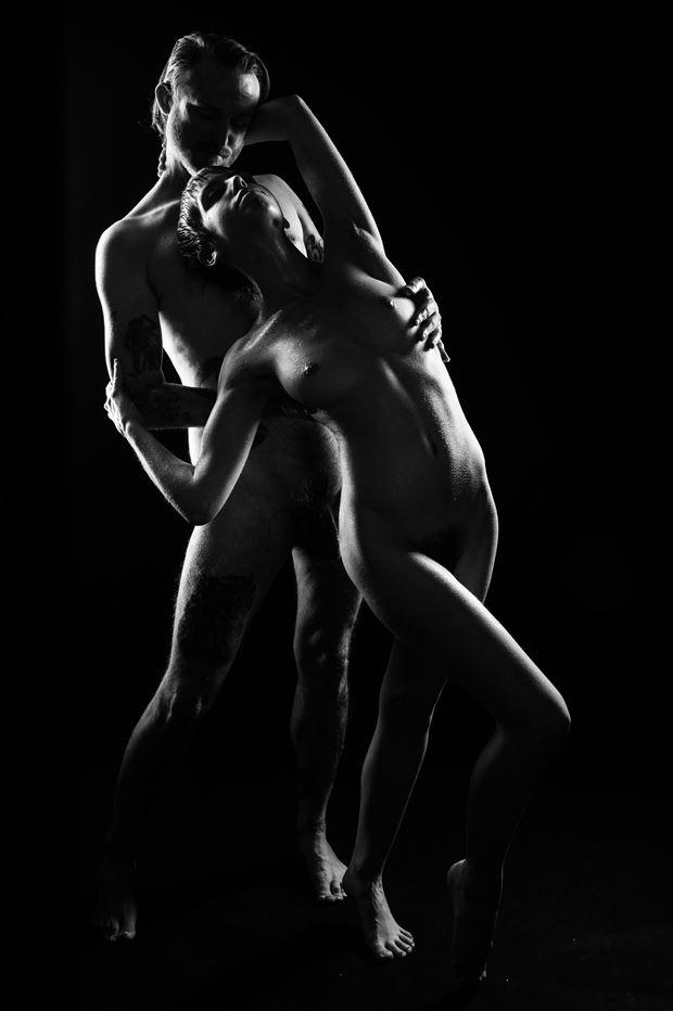 silhouette 2 artistic nude artwork print by photographer jim setzer
