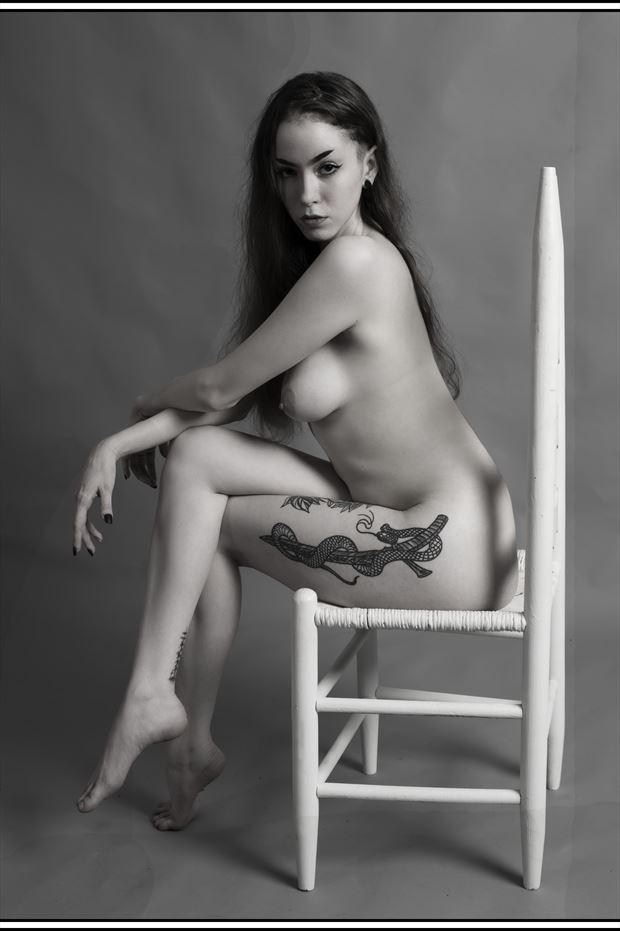 sitting leg crossed tattoos photo print by photographer tommy 2 s