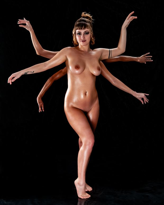 six arms artistic nude photo print by photographer ian cartwright