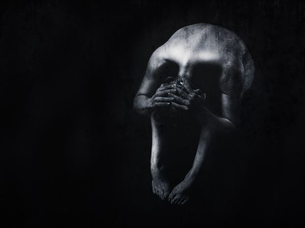 skull experimental photo print by photographer bill milward
