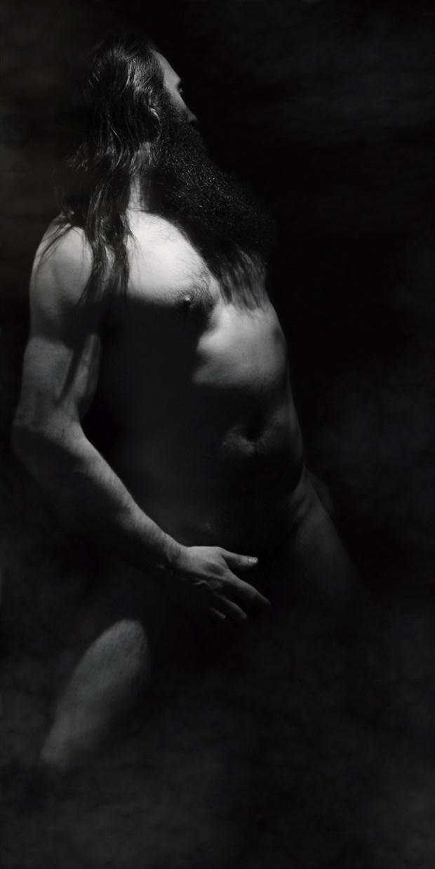 smoking out the stigma of the male nude artistic nude photo print by photographer photorunner