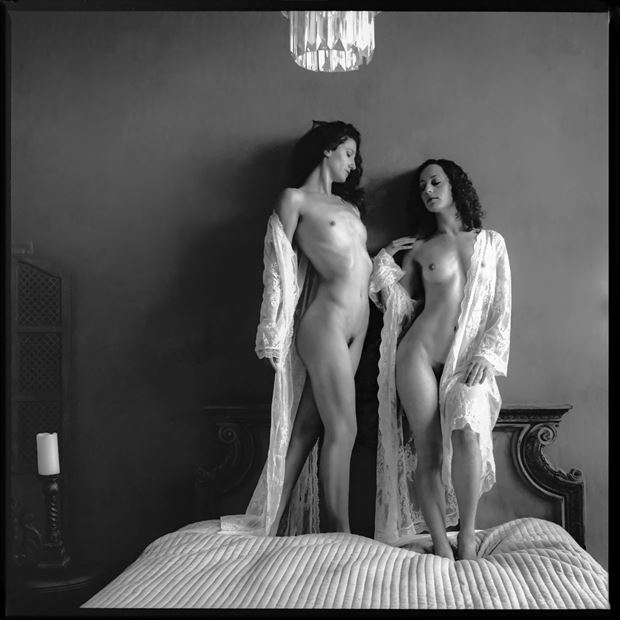 soft light of morning artistic nude photo print by photographer philip turner