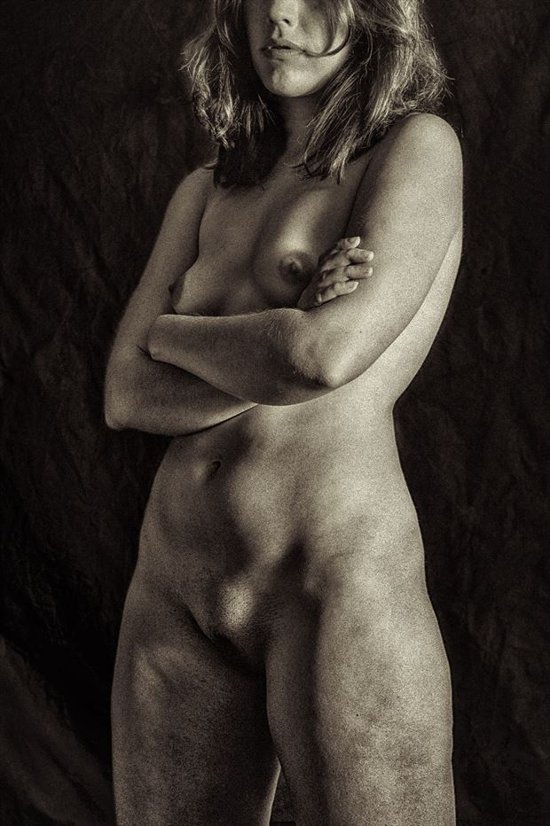 standing tall proud artistic nude photo print by photographer rick jolson