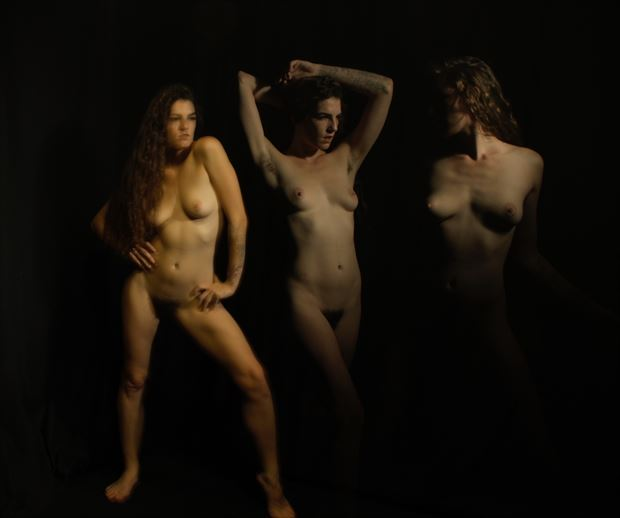 stevie triptych artistic nude photo print by photographer zames curran
