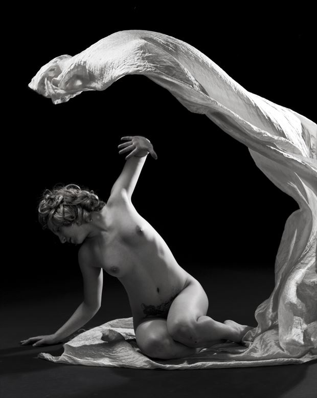storm in the sheets artistic nude artwork print by photographer tony avellino