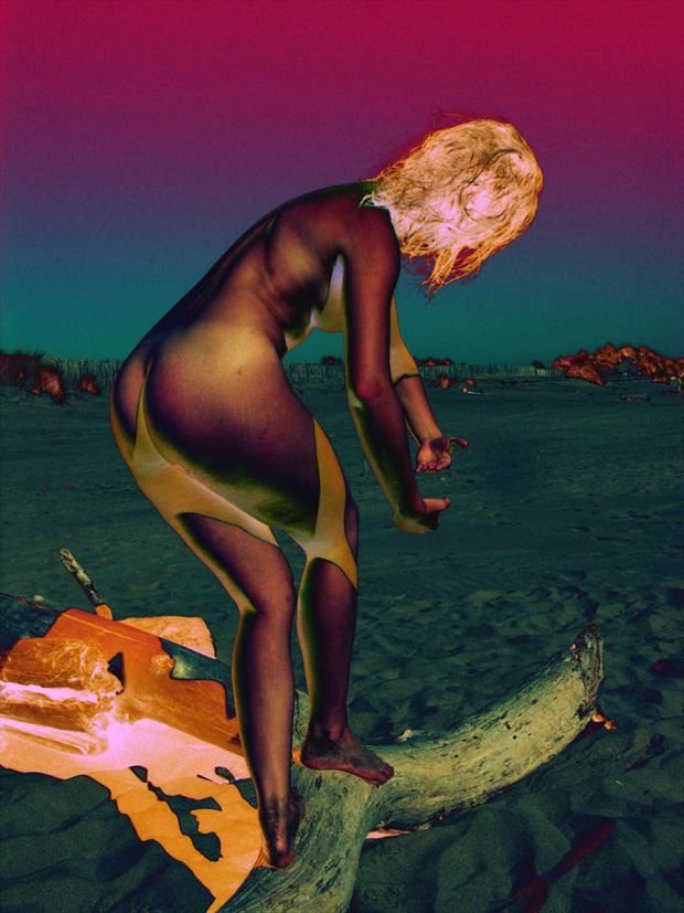 strange venus artistic nude photo print by photographer joseph auquier
