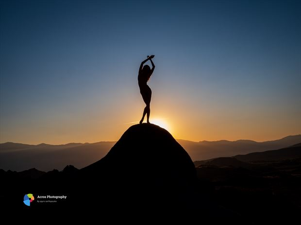 sunrise artistic nude photo print by photographer acros photography