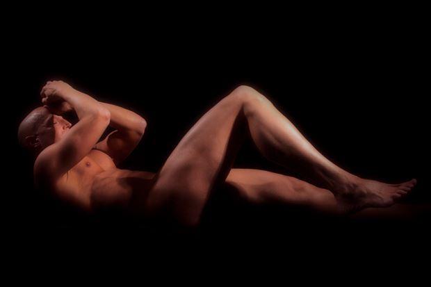 suspension artistic nude photo print by model avid light