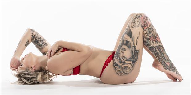 taya 3 tattoos photo print by photographer ken greenhorn
