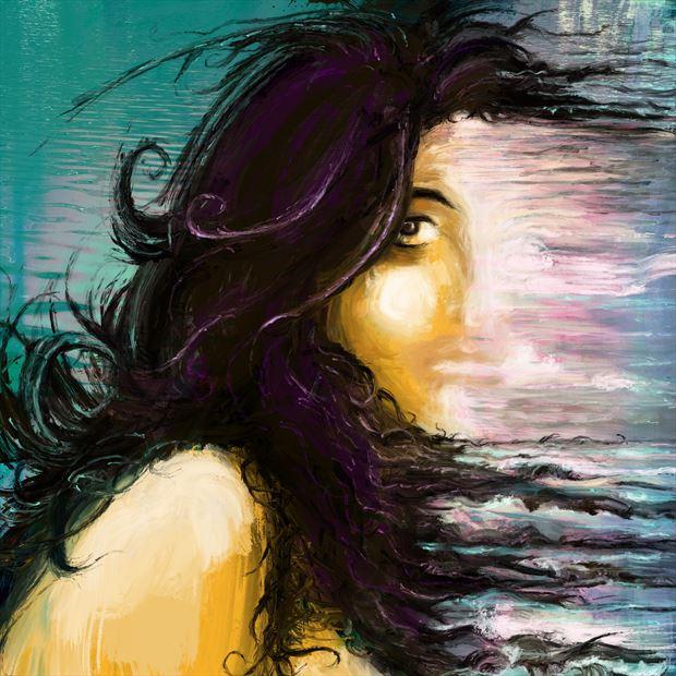 tempest nature artwork print by artist nick kozis