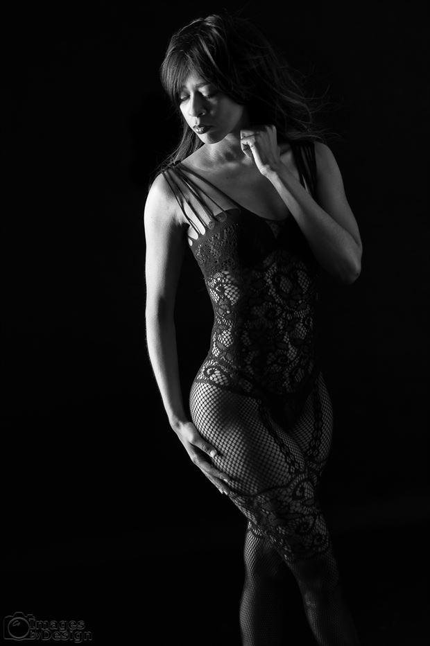 tershia contemplating lingerie photo print by photographer jsetzer
