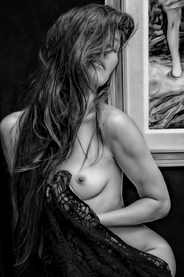 the artist s model artistic nude photo print by photographer philip turner