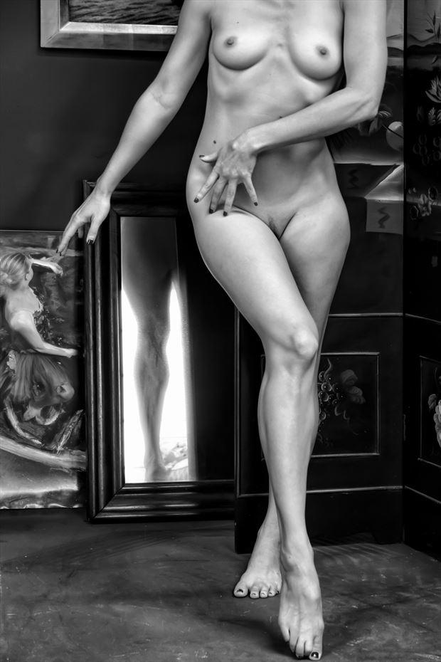the artist s studio artistic nude photo print by photographer philip turner