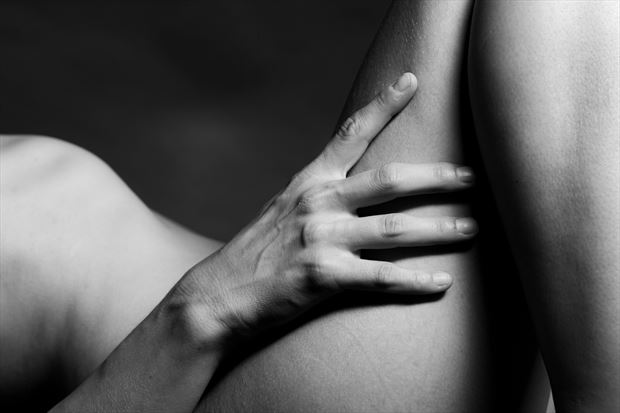the beauty of hand artistic nude photo print by photographer thomas branch