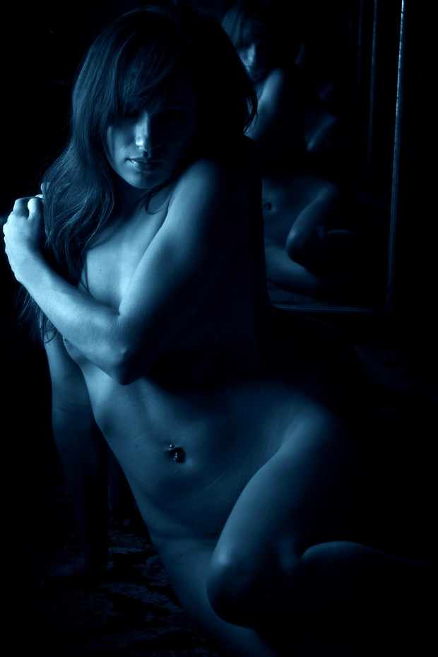 the blues Artistic Nude Photo print by Photographer AEPhotography