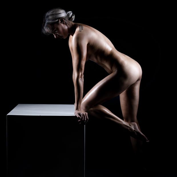 the box no 1 artistic nude photo print by model alexandra queen