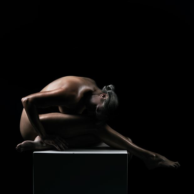 the box no 2 artistic nude photo print by model alexandra queen