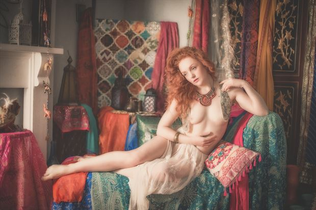 the harem girl artistic nude photo print by photographer colin dixon