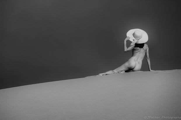 the hat artistic nude photo print by photographer jcp photography