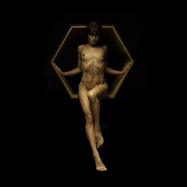 the hexagon is not my master artistic nude photo print by photographer doc list