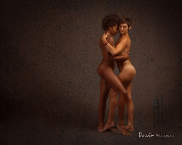the intimacy of sisterhood artistic nude photo print by photographer doclist
