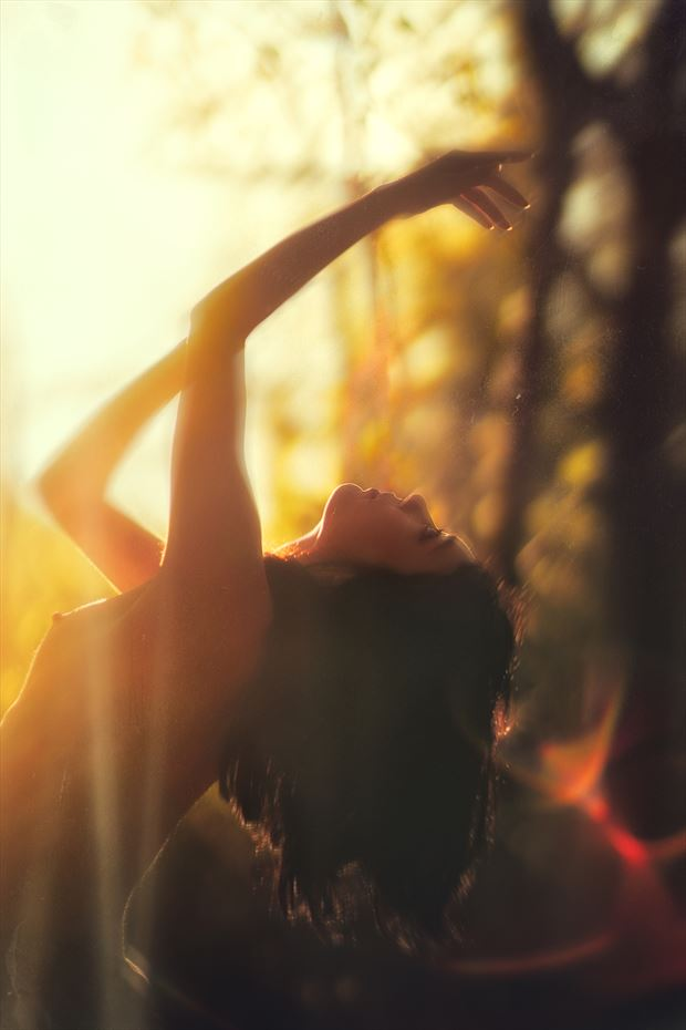 the light found me artistic nude photo print by model rebeccatun