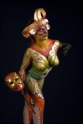 the mask Body Painting Photo print by Photographer Andrea Peria