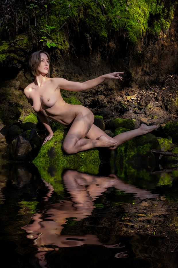 the original nymph artistic nude photo print by photographer philip turner