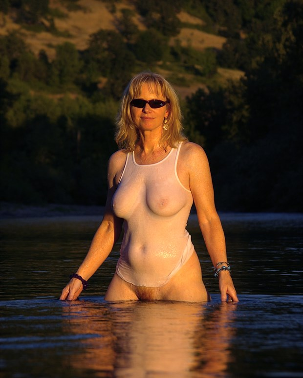 the river's queen Artistic Nude Photo print by Photographer AEPhotography