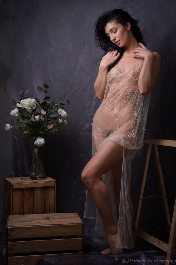 the rose artistic nude photo print by photographer jcp photography
