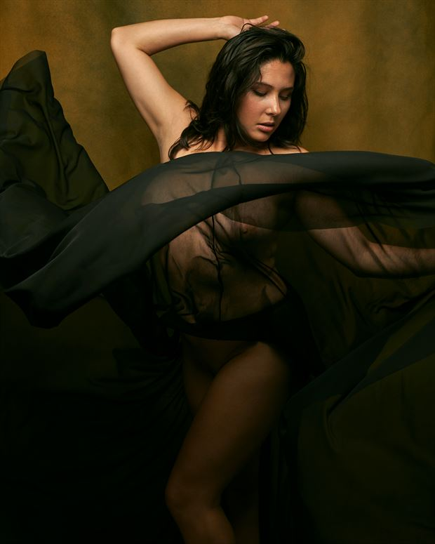 the skirt artistic nude photo print by photographer mikeblue
