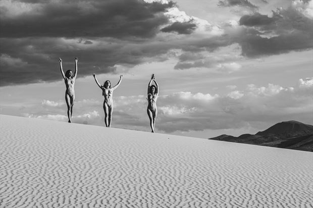 the three muses artistic nude photo print by photographer philip turner