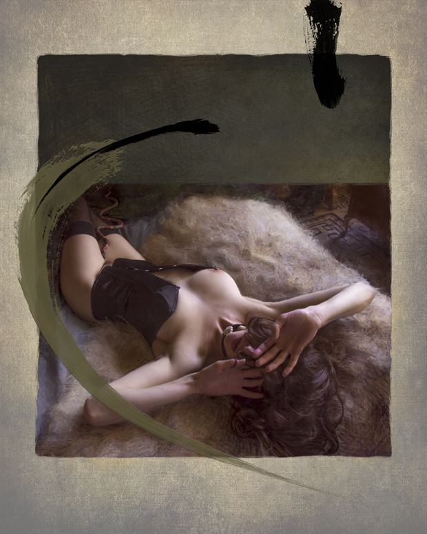 the year of the snake anoush 2 artistic nude artwork print by artist ward george