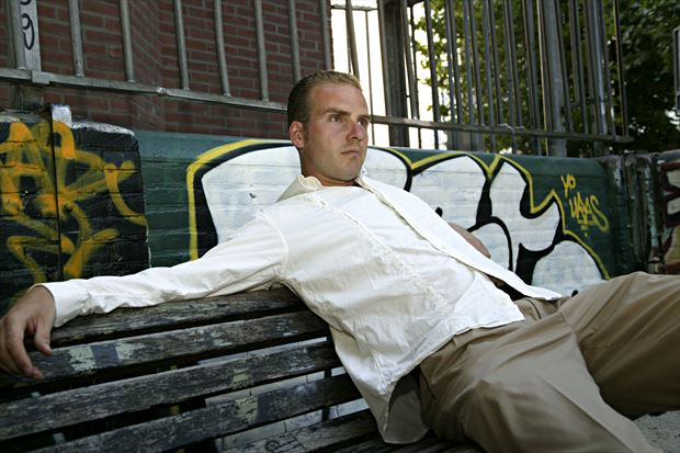 thomas in chill mode off pc hooftstraat 2006 portrait photo print by model thomas lundy
