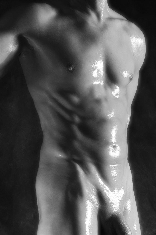 torso sheen artistic nude photo print by model avid light