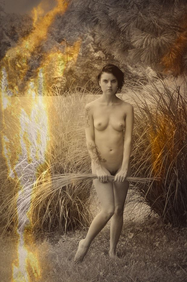 uncertainty artistic nude photo print by photographer kean creative