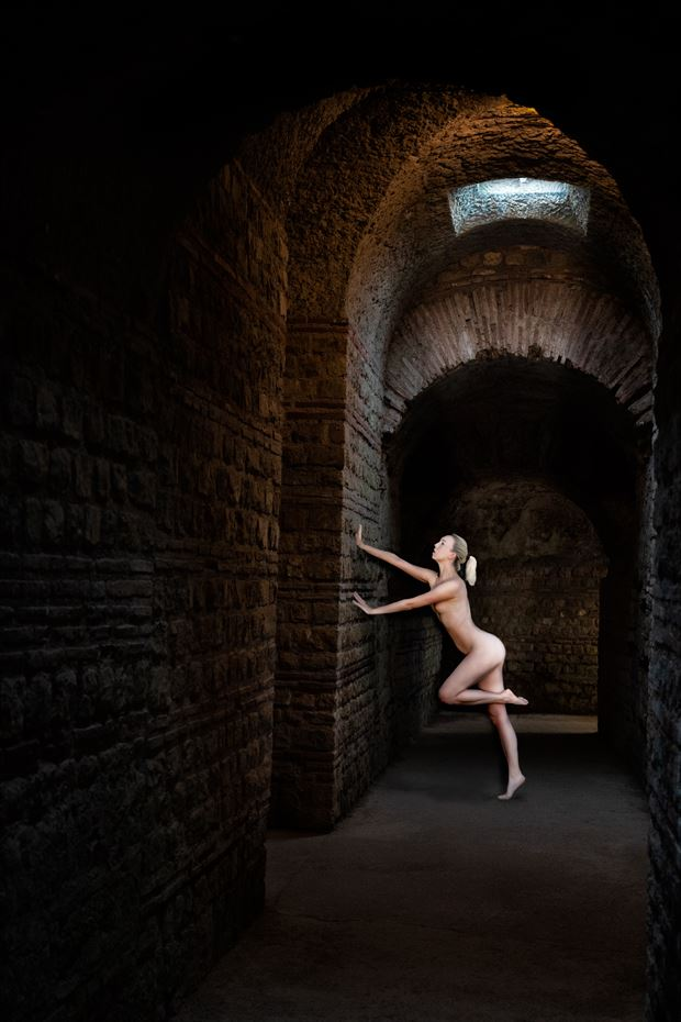 underground beauty artistic nude photo print by photographer colin dixon