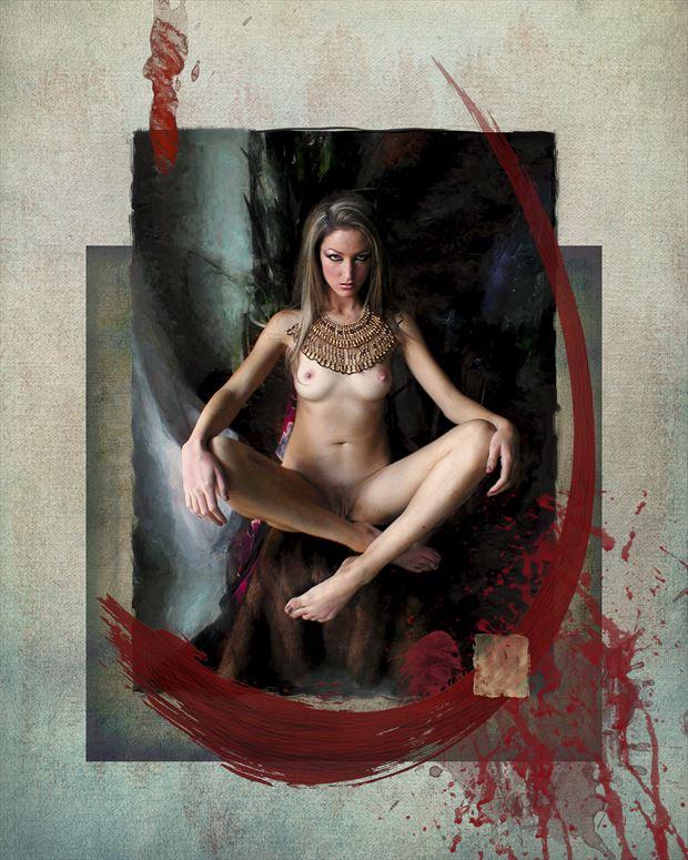 untitled artistic nude artwork print by artist ward george