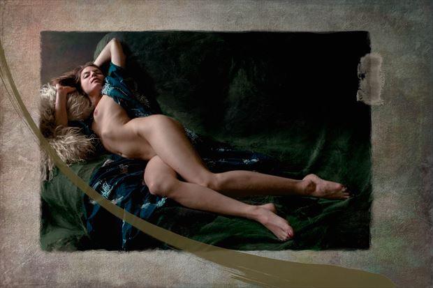 venus naturalis amanda 8 artistic nude artwork print by artist ward george
