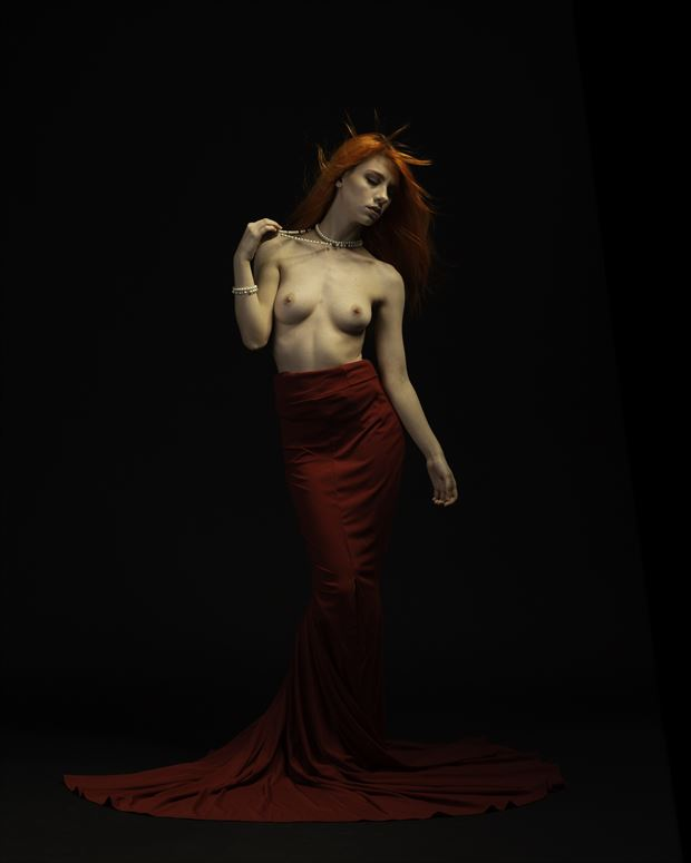 victoria skellington red dress 001 artistic nude photo print by photographer doc list