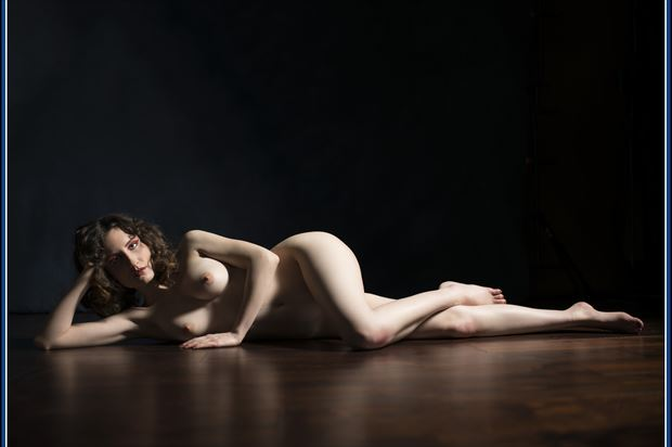 view of the floor artistic nude photo print by photographer tommy 2 s