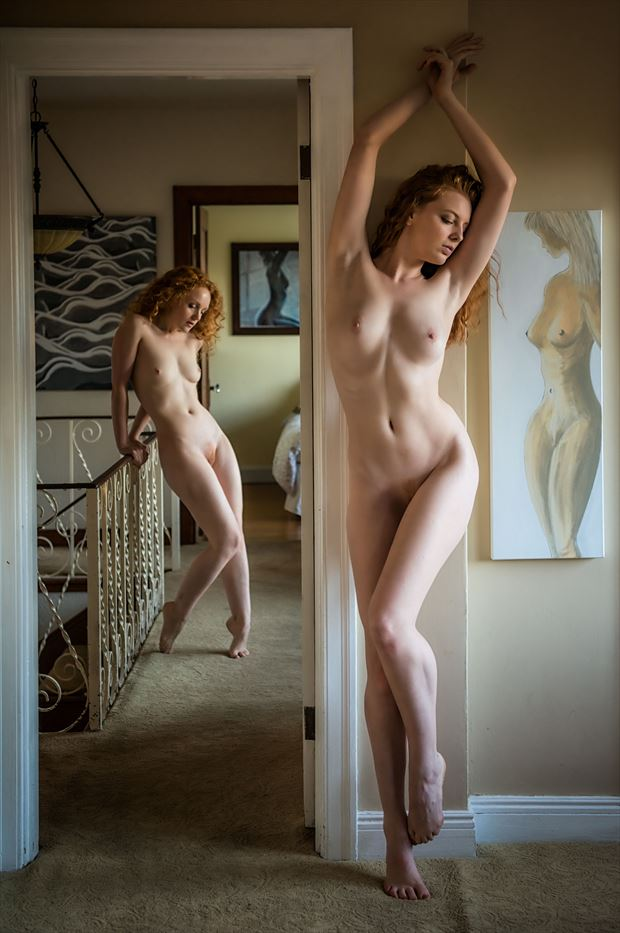 villa of the goddesses artistic nude photo print by photographer randall hobbet