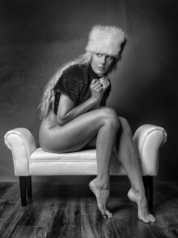 warm hat studio lighting photo print by photographer colin dixon