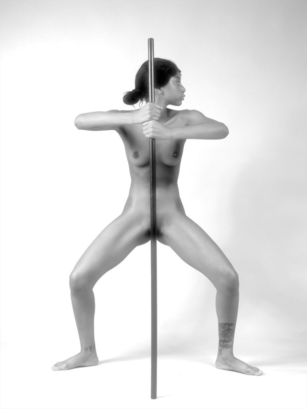 warrior artistic nude photo print by photographer pblieden