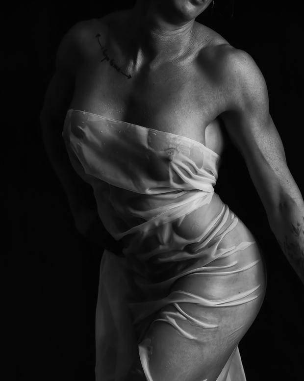 wet fabric implied nude photo print by photographer bill milward
