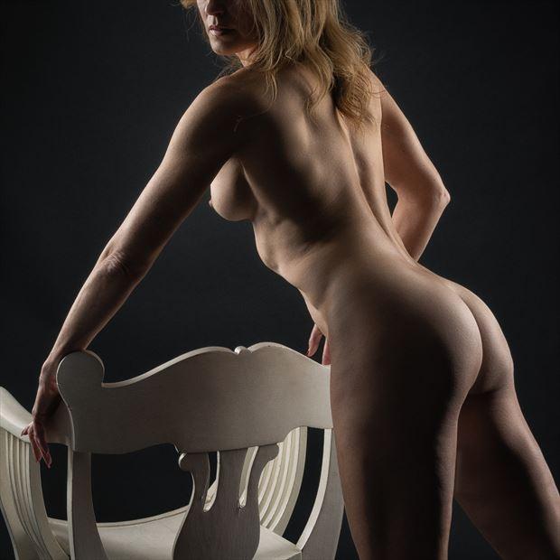 white chair again artistic nude photo print by photographer rick jolson
